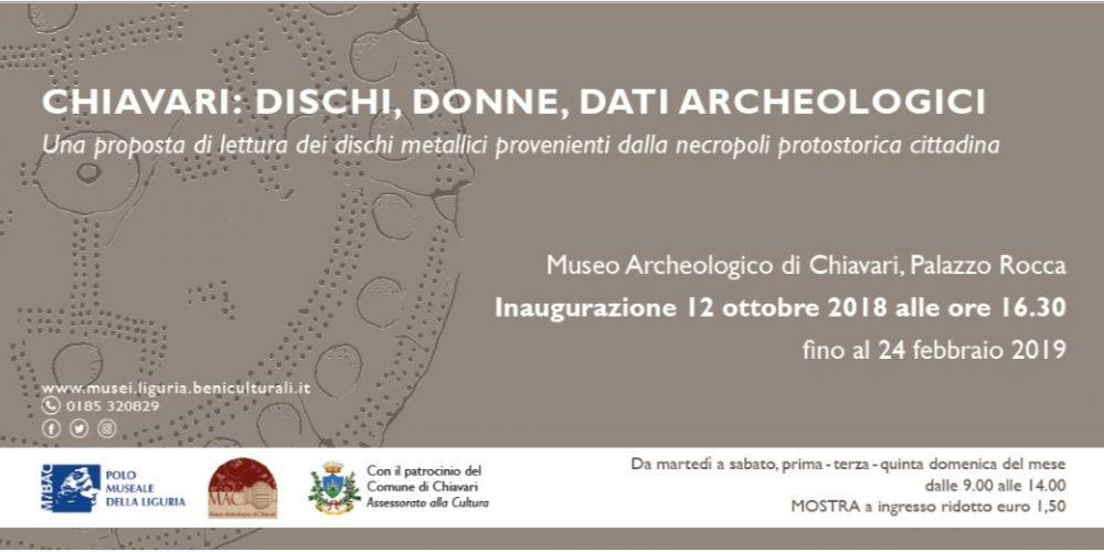"La mostra ""Dischi, donne, dati archeologici"" a Chiavari"