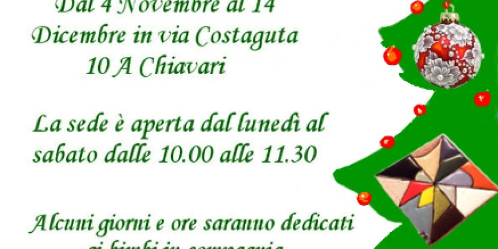 I corsi di decorazione natalizia presso il Cif di Chiavari